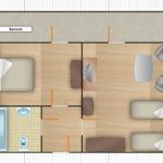 2-комнатный 4-местный